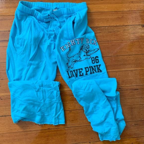 PINK Victoria's Secret Pants - Victoria Secret blue sweatpants